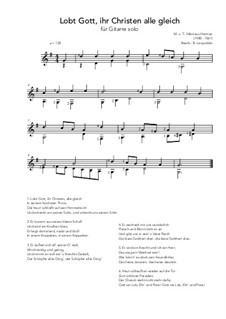 Lobt Gott, ihr Christen alle gleich: Für Gitarre by Nikolaus Herman