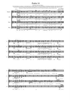 Psalm 14 for Choir (SATB), MVWV 1260: Psalm 14 for Choir (SATB) by Maurice Verheul