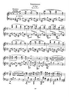 Acht Stücke, Op.76: No.3 Intermezzo in A Flat Major by Johannes Brahms