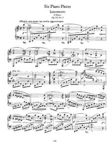 Sechs Stücke, Op.118: No.1 Intermezzo in A Minor by Johannes Brahms