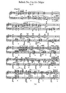 Ballade Nr.3 in As-Dur, Op.47: Für Klavier by Frédéric Chopin