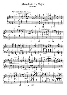 Mazurkas, Op.17: No.1 in B Flat Major by Frédéric Chopin