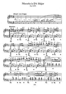 Mazurkas, Op.30: No.3 in D Flat Major by Frédéric Chopin