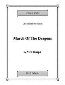 March of the Dragons: For piano four hands (elementary) by Nick Raspa