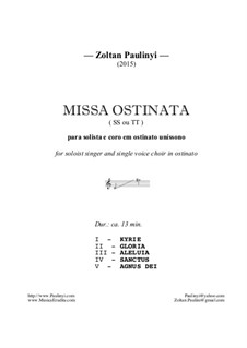 Missa Ostinata for 2 equal voices (2015): Missa Ostinata for 2 equal voices (2015) by Zoltan Paulinyi