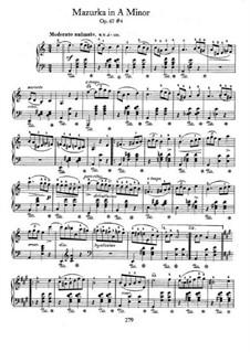 Mazurkas, Op. posth.67: No.4 in A Minor by Frédéric Chopin