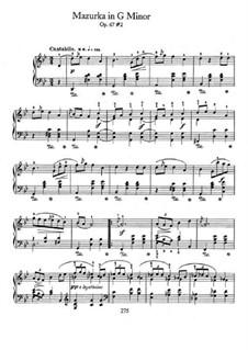 Mazurkas, Op. posth.67: No.2 in G Minor by Frédéric Chopin