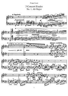 Drei Konzertetüden, S.144: Vollsammlung by Franz Liszt