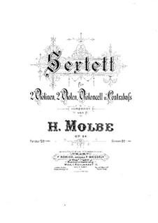 Streichsextett, Op.64: Kontrabass-Stimme by Heinrich Molbe