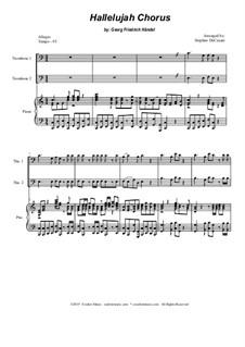 Freue dich Welt: For trombone duet by Georg Friedrich Händel