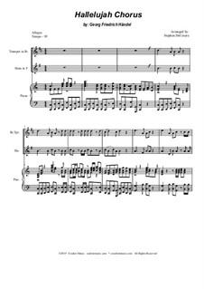 Nr.44 Halleluja: Duet for Bb-trumpet and french horn by Georg Friedrich Händel