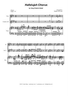 Nr.44 Halleluja: Duet for flute and Bb-clarinet by Georg Friedrich Händel
