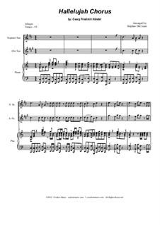 Nr.44 Halleluja: Duet for soprano and alto saxophone by Georg Friedrich Händel
