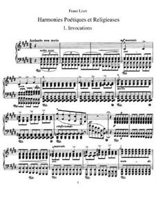 Poetische und religiöse Harmonies, S.173: Vollsammlung by Franz Liszt
