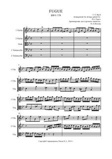 Fuge in g-Moll 'Kleine', BWV 578: For strings quintet by Johann Sebastian Bach