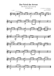 Der Feind der Armen - G Minor (for guitar solo): Der Feind der Armen - G Minor (for guitar solo) by Hoffmann von Fallersleben