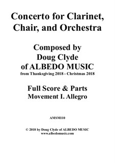 Concerto for Clarinet, Chair and Orchestra: Movement I. Allegro, AMSM110 by Doug Clyde