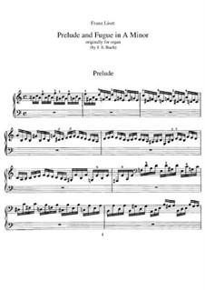 Sechs Präludien und Fugen, BWV 543-548: No.1. Version for piano, S.462 by Johann Sebastian Bach