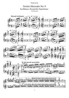 Transkriptionen über Themen aus 'Soirées musicales' von Rossini, S.424: No.9 Tarantella Napoletana by Franz Liszt