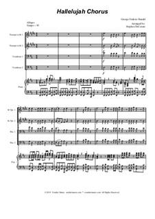 Nr.44 Halleluja: For brass quartet and piano - alternate version by Georg Friedrich Händel