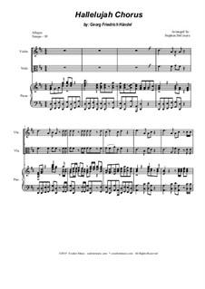 Nr.44 Halleluja: Duet for violin and viola by Georg Friedrich Händel
