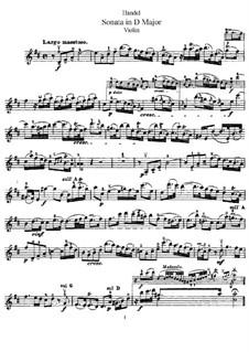 Sonate für Violine und Cembalo in D-Dur, HWV 371 Op.1 No.13: Solostimme by Georg Friedrich Händel