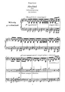 Nr.7 Abschied: Für Klavier, S.560 No.5 by Franz Schubert