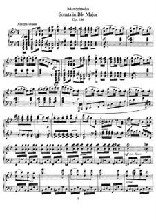 Sonate für Klavier Nr.3 in B-Dur, Op.106: Für einen Interpreten by Felix Mendelssohn-Bartholdy