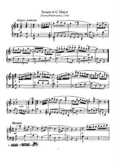 Sonate für Klavier Nr.2 in C-Dur, Hob.XVI/7: Für einen Interpreten by Joseph Haydn