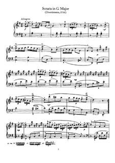 Sonate für Klavier Nr.1 in G-Dur, Hob.XVI/8: Für einen Interpreten by Joseph Haydn