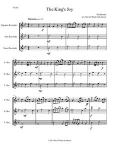 15 easy trios for recorder trio (soprano, alto, tenor): The King's Joy by folklore
