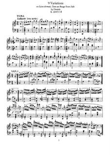 Neun Variationen über 'Lison Dormait' von N. Dezède, K.264: Für Klavier by Wolfgang Amadeus Mozart