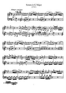 Sonate für Klavier Nr.42 in G-Dur, Hob.XVI/27: Für einen Interpreten by Joseph Haydn
