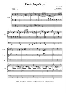 Panis angelicus: For brass quartet and organ - alternate version by César Franck