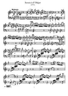 Sonate für Klavier Nr.44 in F-Dur, Hob.XVI/29: Für einen Interpreten by Joseph Haydn