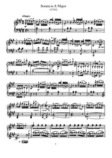 Sonate für Klavier Nr.45 in A-Dur, Hob.XVI/30: Für einen Interpreten by Joseph Haydn