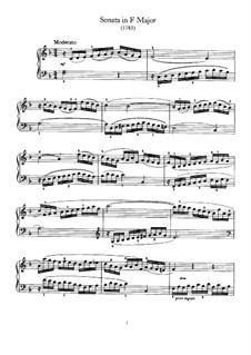 Sonate für Klavier Nr.57 in F-Dur, Hob.XVI/47: Für einen Interpreten by Joseph Haydn