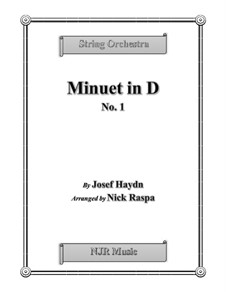 Minuet in D No.1: For string orchestra – full set by Joseph Haydn