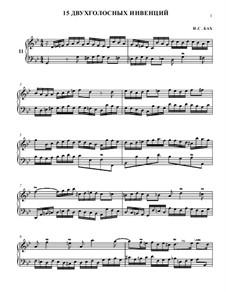 Nr.11 in g-moll, BWV 782: Für Klavier by Johann Sebastian Bach