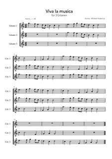 Viva la musica: For 3 guitars (C Major) by Michael Praetorius