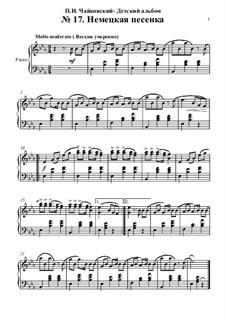 Nr.17 Deutsches Lied: Für Klavier by Pjotr Tschaikowski