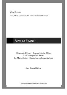 Vive la France: Vive la France by Étienne Méhul, Rouget de Lisle, Unknown (works before 1850)