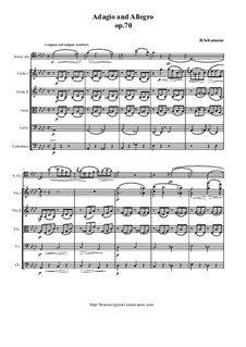 Adagio und Allegro, Op.70: For cello (horn or viola) and string orchestra – score and all parts by Robert Schumann
