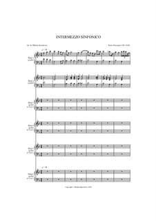 Cavaleria rusticana: Intermezzo, for harp sextet by Pietro Mascagni