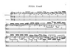 Fuge in g-Moll 'Kleine', BWV 578: Für einen Interpreten by Johann Sebastian Bach