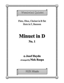 Minuet in D No.1: For woodwind quintet by Joseph Haydn
