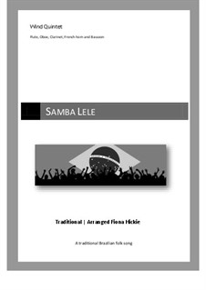 Samba Lele: For wind quintet by folklore