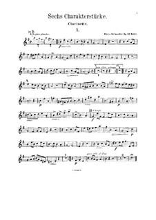 Sechs Charakterstücke für Violine (oder Klarinette), Cello (oder Bratsche) und Klavier, Op.53: Klarinettenstimme by Alexis Holländer