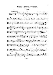 Sechs Charakterstücke für Violine (oder Klarinette), Cello (oder Bratsche) und Klavier, Op.53: Violastimme by Alexis Holländer