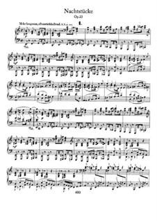 Nachtstücke, Op.23: Vollsammlung by Robert Schumann